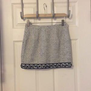 English Rose Wool Blend Mini Skirt  Sz S
